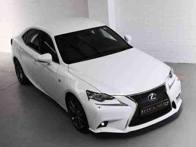 lexus 2013 63 is300h f sport hybrid white auto car for sale. Black Bedroom Furniture Sets. Home Design Ideas