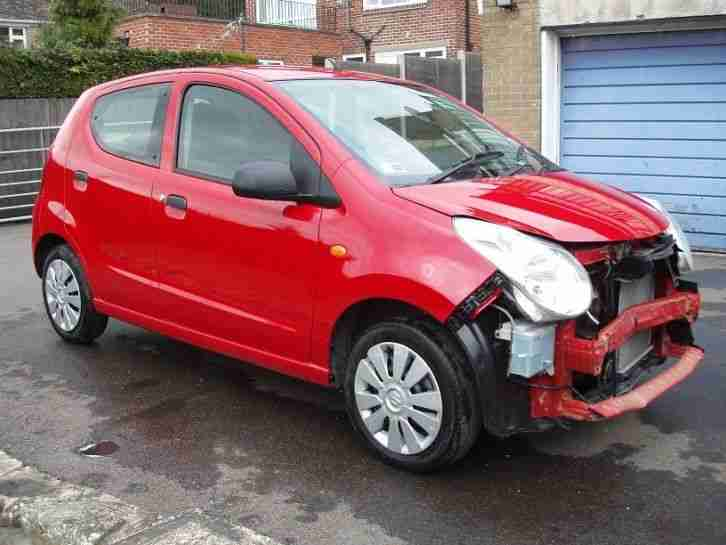 2013 63 SUZUKI ALTO SZ RED DAMAGE REPAIRABLE SALVAGE