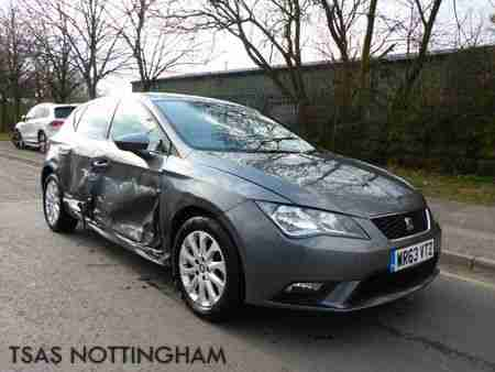 2013 *63* Seat Leon 1.6 TDi 105 SE Damaged Salvage CAT D