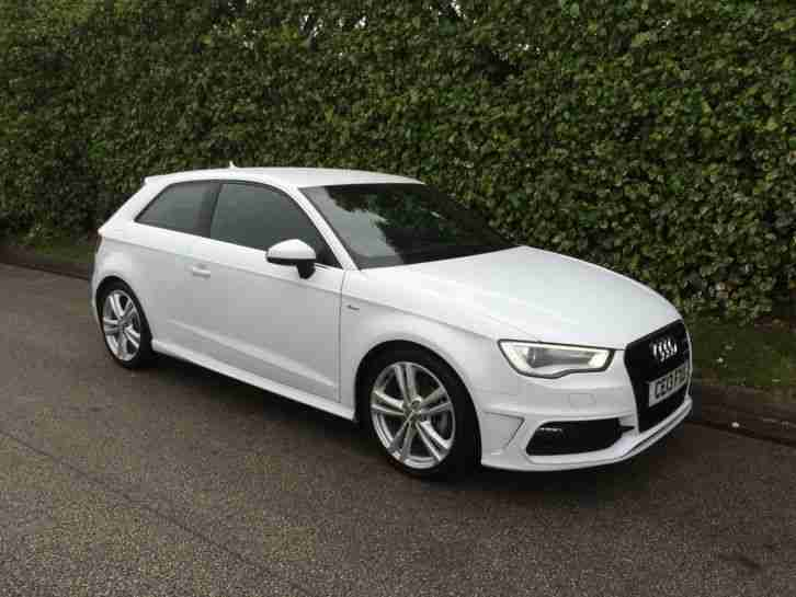 audi 2013 a3 s line tdi white car for sale. Black Bedroom Furniture Sets. Home Design Ideas