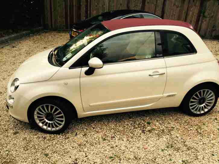fiat 2013 500 c lounge white only 9000 miles car for sale. Black Bedroom Furniture Sets. Home Design Ideas