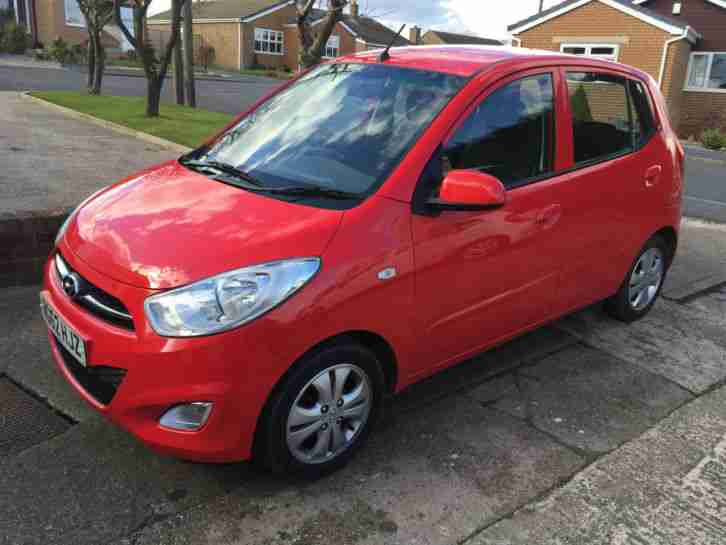 hyundai 2013 i10 active red with low mileage cheap tax and usb aux. Black Bedroom Furniture Sets. Home Design Ideas