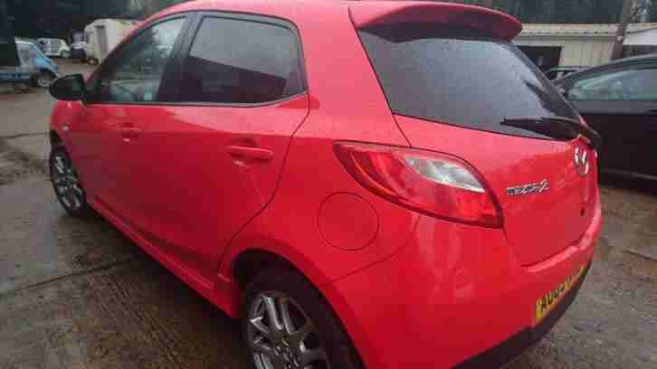 2013 MAZDA 2 VENTURE EDITION RED,Cat D