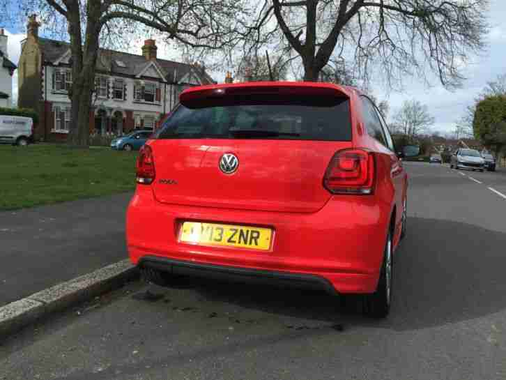 2013 R/LINE SPORT VW POLO CAT D REPAIRED STUNNING RED NICE LOOKING CAR 34K MILES