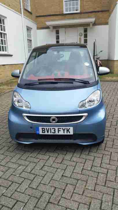 smart 2013 fortwo passion mhd auto blue and silver car for sale. Black Bedroom Furniture Sets. Home Design Ideas