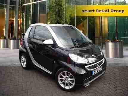 2013 smart fortwo cabrio passion Petrol black Manual