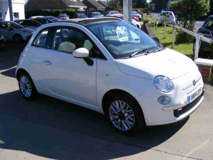 2014 14 Fiat 500C 1.2 (69bhp) LOUNGE CONVERTIBLE, £30 TAX, LOW MILEAGE