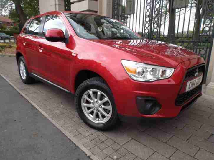 2014 14 MITSUBISHI ASX 1.6 2 5DR RED 115 BHP MANUAL 1OWNER 30.000 MILES AIR CON