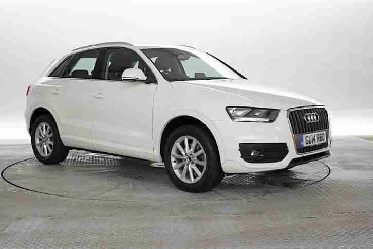 audi 2014 14 reg q3 2 0 tdi se 4x2 white 5 standard. Black Bedroom Furniture Sets. Home Design Ideas