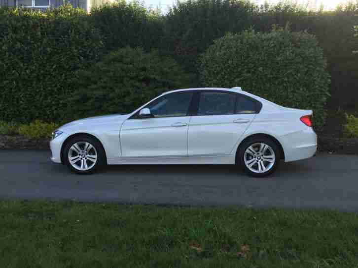 2014 64 bmw 316d sport pearl white stop start 30 tax manual. Black Bedroom Furniture Sets. Home Design Ideas