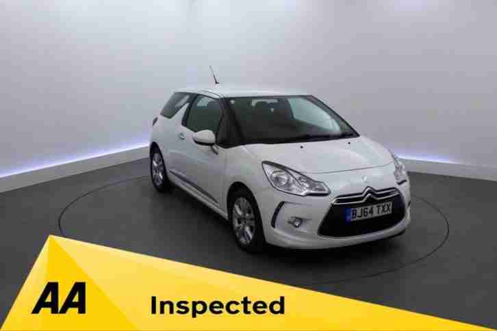 2014 64 CITROEN DS3 1.2 DSIGN PLUS 3D 82 BHP