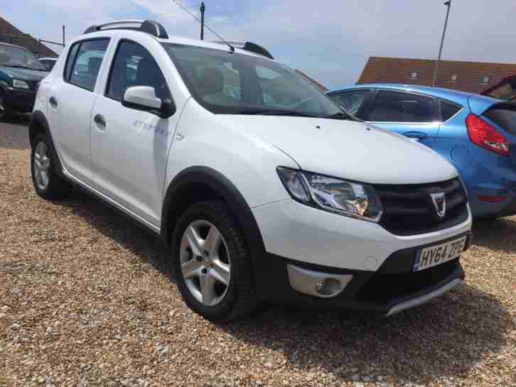 2014 64 dacia sandero stepway ambiance 1 5 dci white manual diesel. Black Bedroom Furniture Sets. Home Design Ideas