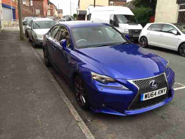 lexus 2014 64 is 300h f sport auto blue car for sale. Black Bedroom Furniture Sets. Home Design Ideas