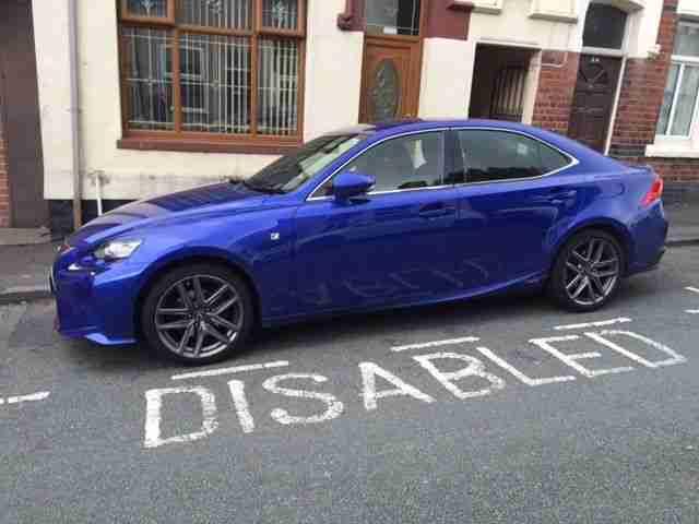 lexus 2014 64 is 300h f sport auto blue car for sale. Black Bedroom Furniture Sets. Home Design Ideas