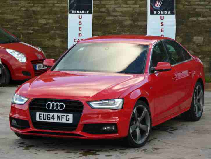 Audi A4 2 0 Tdi Red 4 Door S Line Black Edition Damaged Repaired