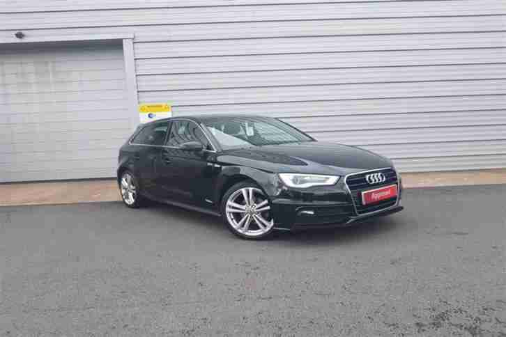 2014 Audi A3 1.4 T FSI S Line (150PS) Petrol black Manual