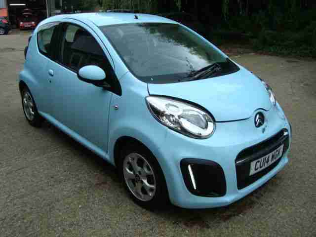 2014 Citroen C1 1.0i Edition Blue 13k Miles Cat D Salvage Damaged