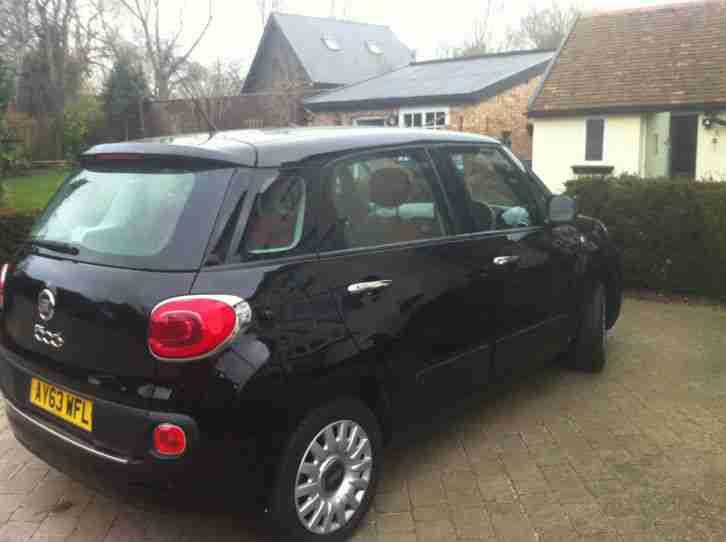 fiat 2014 500l easy black car for sale. Black Bedroom Furniture Sets. Home Design Ideas