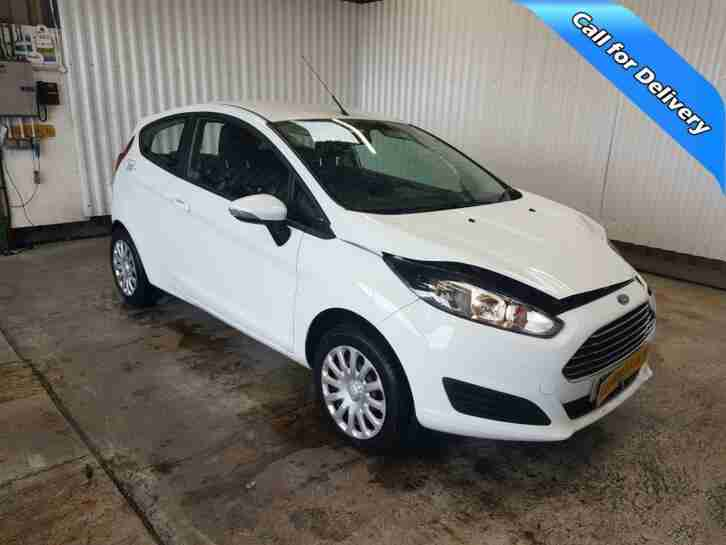 2014 FORD FIESTA 1.2 PETROL MANUAL SALVAGE DAMAGED REPAIRABLE WHITE CAR ONLY 27K