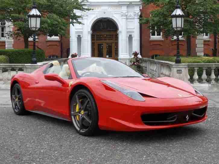 Ferrari 2014 458 Spider 2014 14 Petrol Red F1 Dct Car For Sale