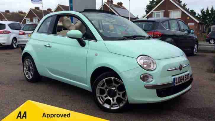 2014 Fiat 500 1.2 Lounge 2dr Dualogic (Start Automatic Petrol Convertible