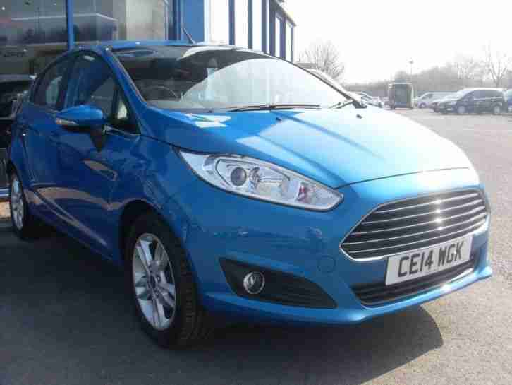 2014 Fiesta ZETEC Petrol Blue Manual