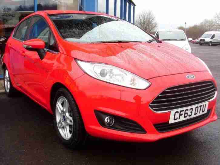 2014 Fiesta ZETEC Petrol Red Manual