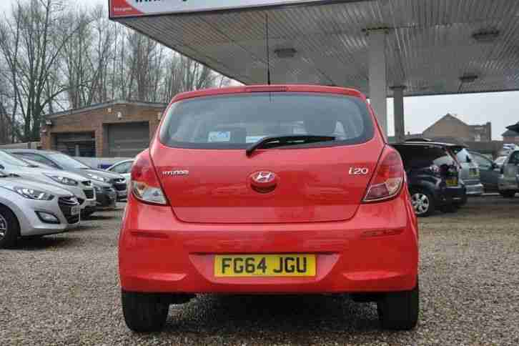 2014 Hyundai i20 1.2 Active Petrol Red Manual