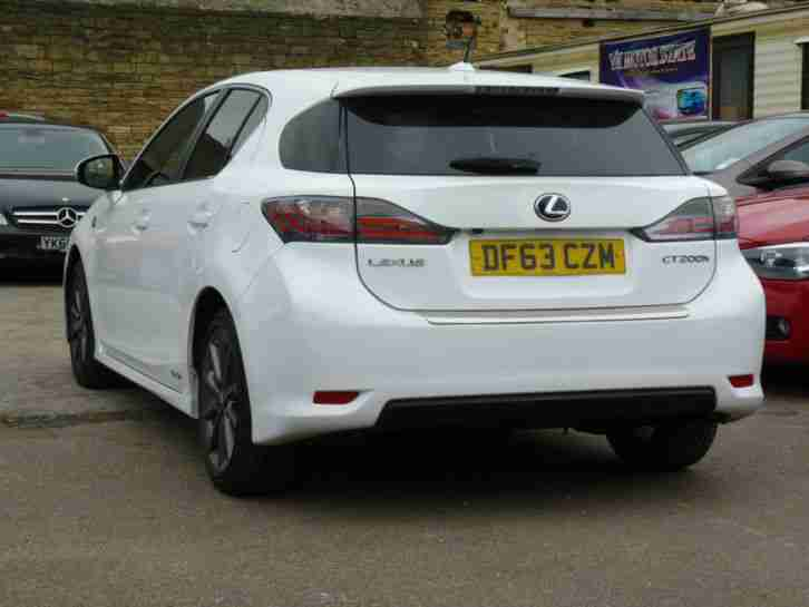 2014 LEXUS CT 200H F SPORT CVT HYBRID ELECTRIC WHITE 5 DOOR DAMAGED REPAIRED