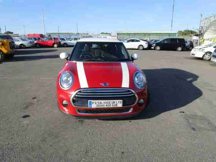 2014 MINI COOPER D 1.5 TURBO DIESEL 6 SPEED MANUAL DAMAGED REPAIRABLE SALVAGE