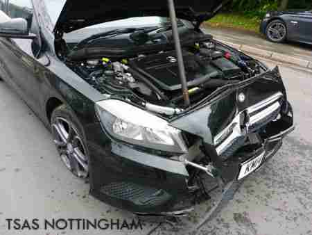 2014 Mercedes-Benz A Class A180 1.5 CDI 109 Black Damaged Salvage