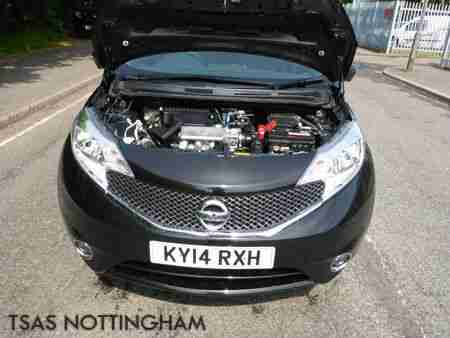 2014 Nissan Note 1.2 DIG-S Tekna Black Damaged Salvage *HPI CLEAR NOT RECORDED*