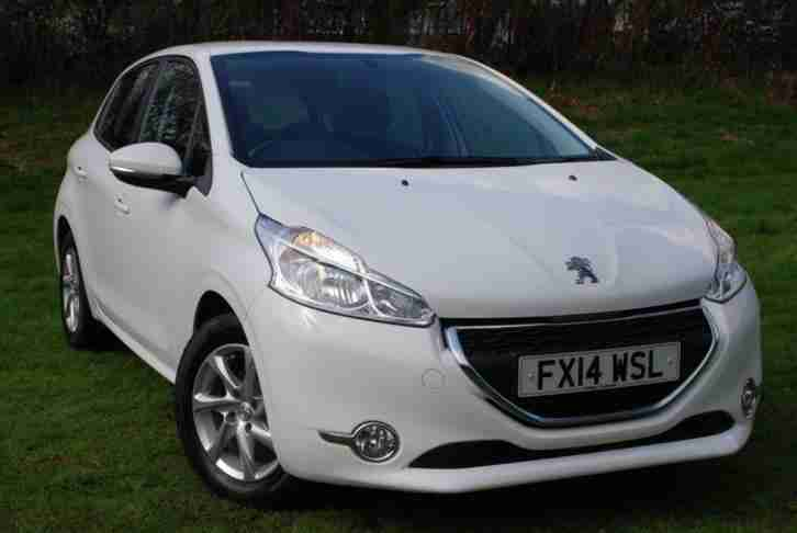 2014 PEUGEOT 208 1.2 VTI ACTIVE [82 BHP] 5 DOOR HATCH WHITE VERY LOW MILEAGE