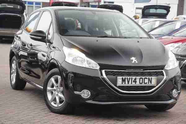Peugeot 2014 208 5 Door 1 2 Vti 82 Active Black Car For Sale