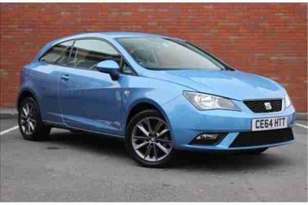 seat 2014 ibiza sc 1 2 tsi i tech 3 door blue car for sale. Black Bedroom Furniture Sets. Home Design Ideas