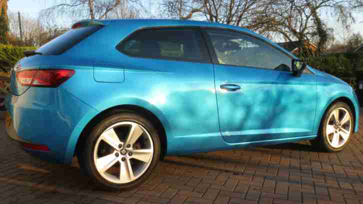 seat 2014 leon sc fr technology 1 8 tsi 180 alor blue low mileage. Black Bedroom Furniture Sets. Home Design Ideas