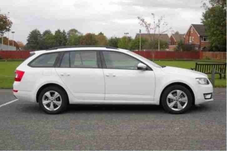 2014 Skoda Octavia 1.6 TDI CR GreenLine III Diesel White Manual