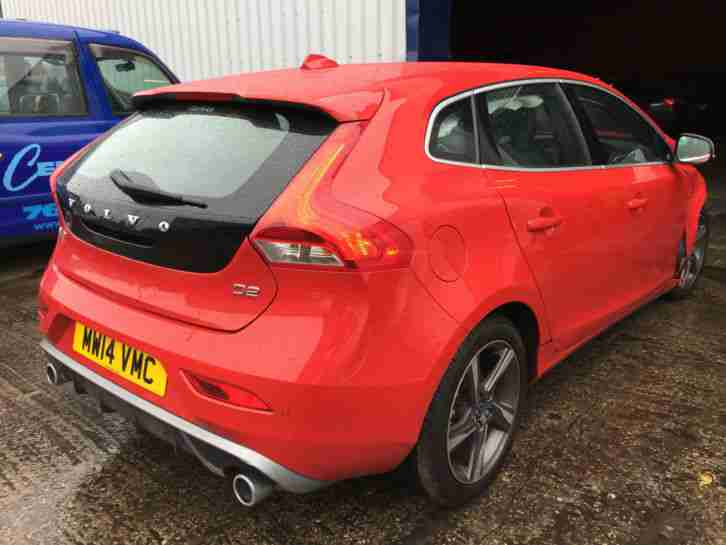 Volvo 2014 V40 R DESIGN D2 RED ACCIDENT DAMAGED REPAIRABLE SALVAGE