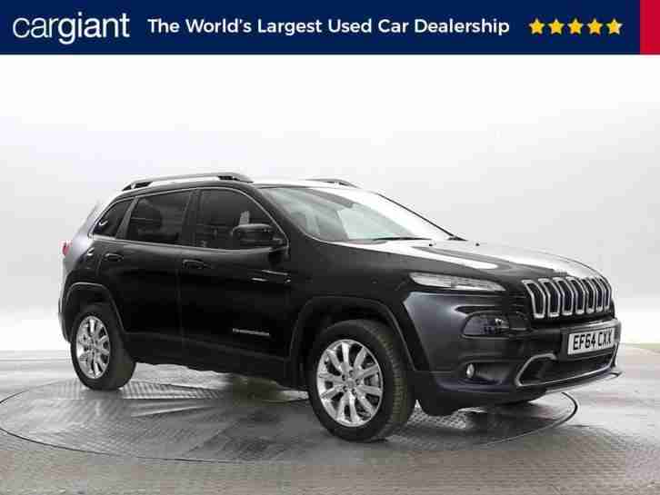 2015 (64 Reg) Jeep Cherokee 2.0 CRD 170 Limited Black DIESEL AUTOMATIC
