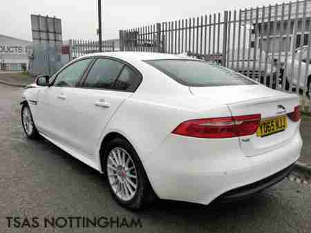 2015 65 Jaguar XE 2.0 TD 163 R Sport White Damaged Salvage