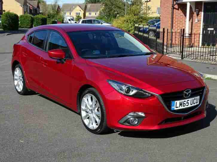 2015 65 MAZDA 3 SPORT NAV D SKYACTIV 2.2 DIESEL TOP SPEC £20 TAX 1 OWNER LOOK!