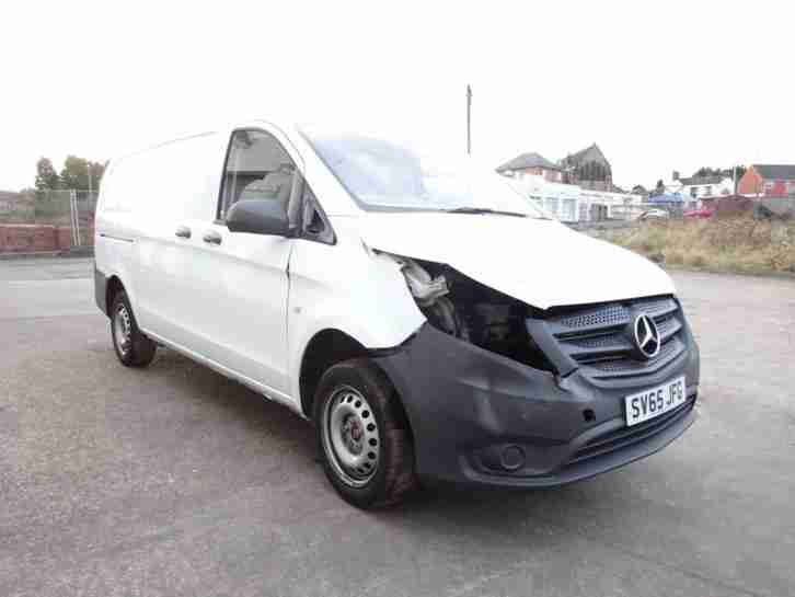2015 65 REG MERCEDES BENZ VITO CDI DIESEL NEW SHAPE VAN CAT-D DAMAGED SALVAGE