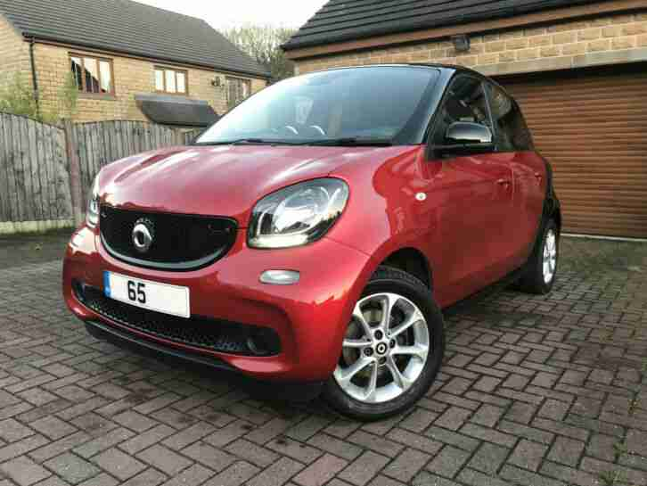 2015 65 SMART ForFour 1.0 Passion 5dr Mercedes Car Stop Start for four city Red