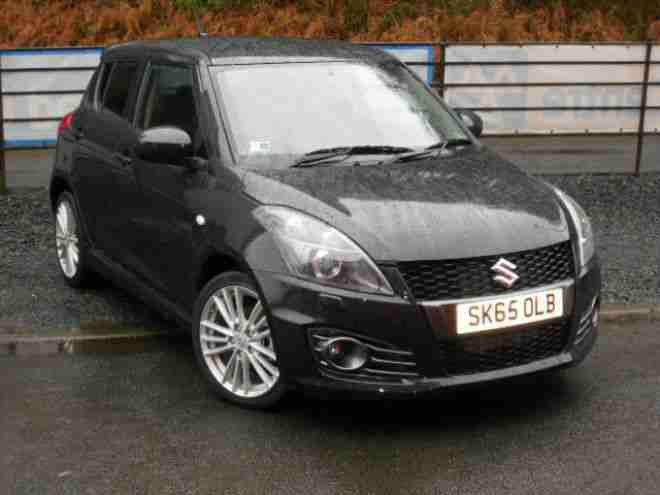 suzuki 2015 65 swift sport 1 6 136ps nav 5 door black car for sale. Black Bedroom Furniture Sets. Home Design Ideas