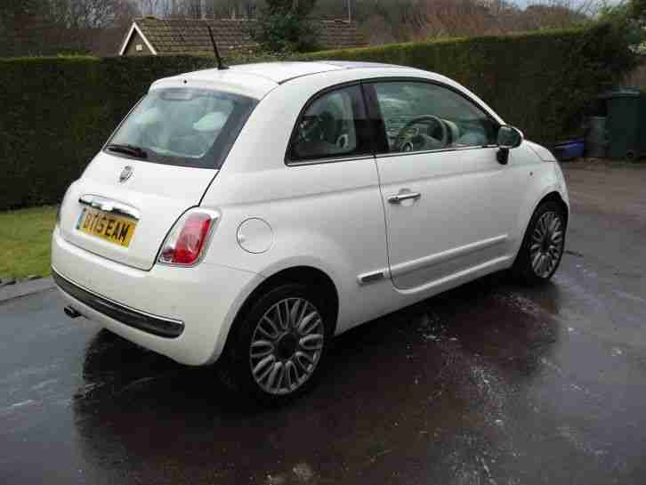 2015 FIAT 500 1.2 LOUNGE WHITE DAMAGE REPAIRABLE SALVAGE CAT D