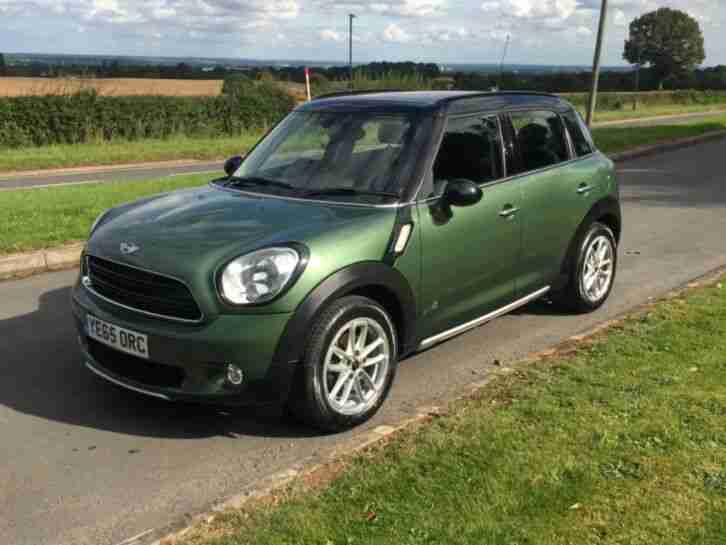 2015 MINI COUNTRYMAN ALL4 IN JUNGLE GREEN 1.6 DIESEL BUSINESS EDITION NAV 52k