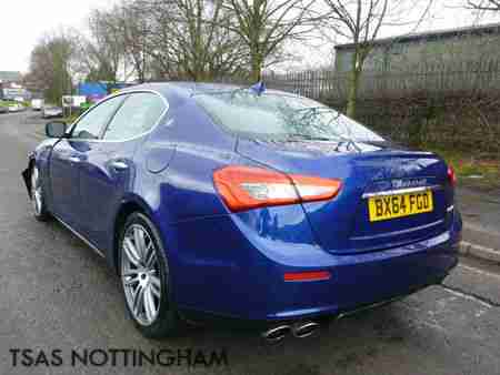 2015 Maserati Ghibli 3.0 TD Diesel 275 Auto Blue Damaged Salvage