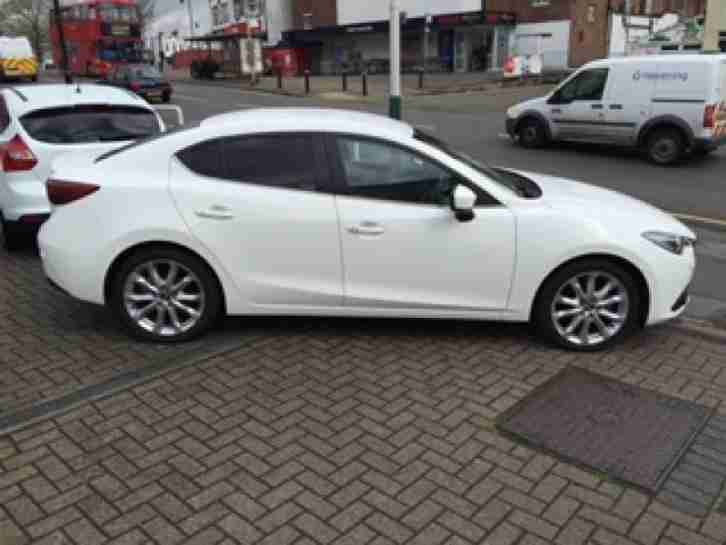 mazda 2015 3 sport nav petrol white manual car for sale. Black Bedroom Furniture Sets. Home Design Ideas