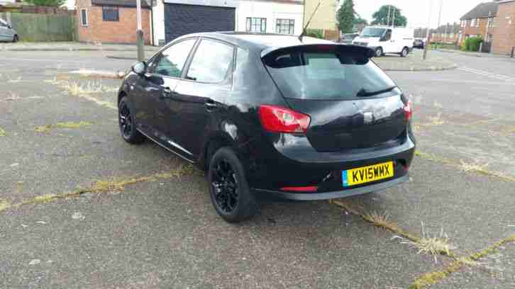 2015 SEAT IBIZA S 1.2 AC BLACK, ONLY 13K MILES, NEW BLACK WOLFRACE ALLOYS
