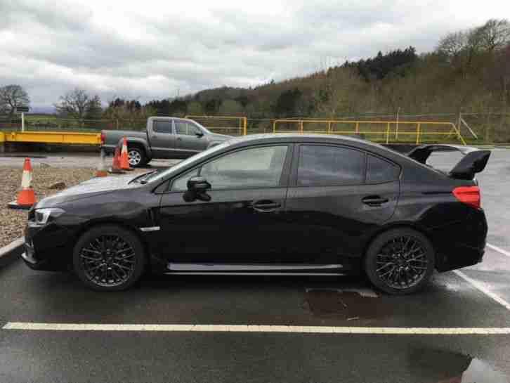 subaru 2015 wrx sti type uk symetrica black low mileage car for sale. Black Bedroom Furniture Sets. Home Design Ideas